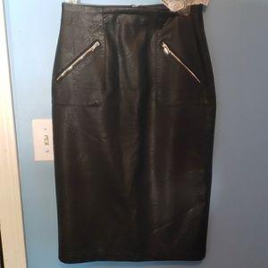 Zara Faux leather skirt High Waisted Pencil Skirt
